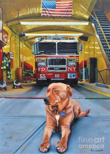 Fire Truck Wall Art - Painting - Nickels by Paul Walsh
