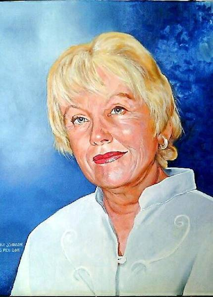 Painting - Nicki Holderness by Tim Johnson