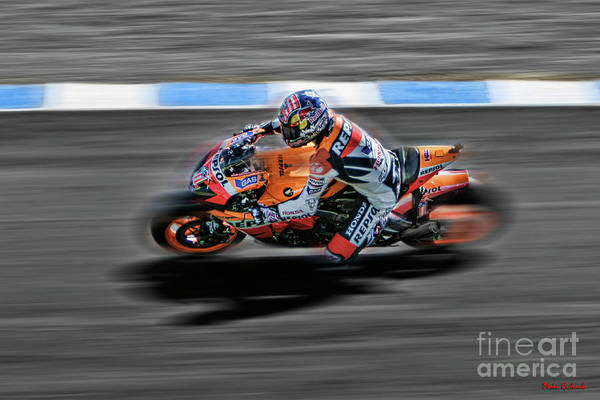 Photograph - Nicky Hayden 2007 Number One Honda by Blake Richards