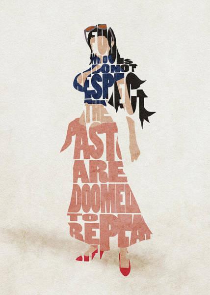 Digital Art - Nico Robin Typography Art by Inspirowl Design