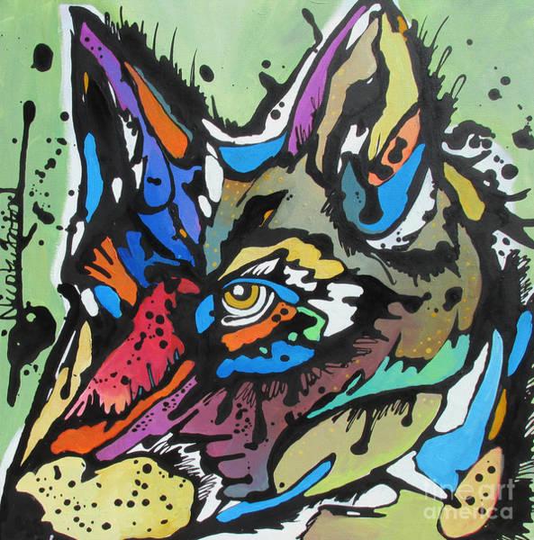 Nico The Coyote Art Print