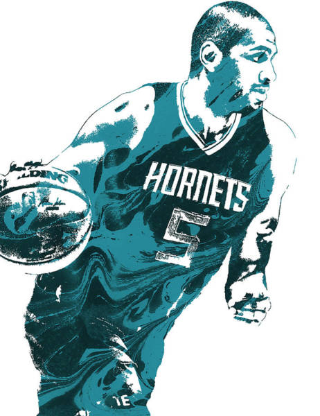Wall Art - Mixed Media - Nicolas Batum Charlotte Hornets Pixel Art 3 by Joe Hamilton
