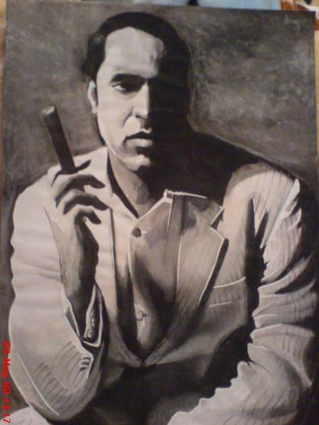 Orlando Bloom Painting - Nicolas Cage by San Art Studio