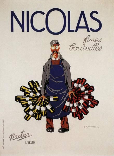 Nectar Mixed Media - Nicolas Fines Bouteilles - Beverages - Vintage Advertising Poster by Studio Grafiikka