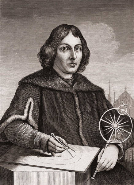 Beam Drawing - Nicolaus Copernicus by American School