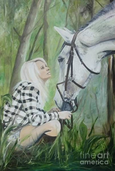 Painting - Nicole And Cellie by Abbie Shores