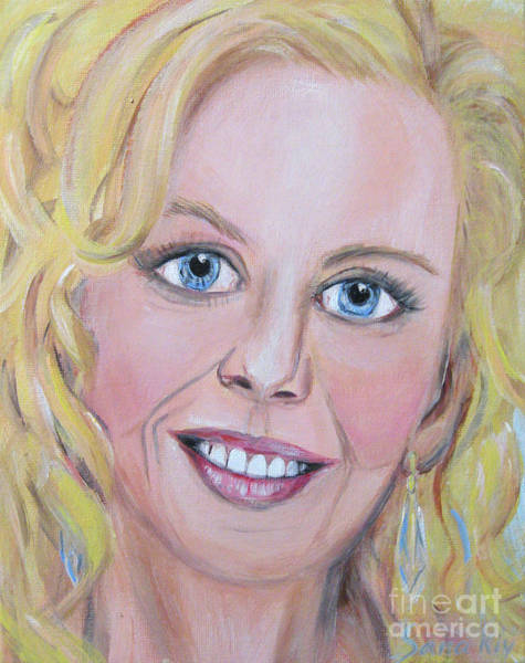 Painting -  Portrait Of Nicole Kidman. Acrylic Painting. Portrait Of  Actress by Oksana Semenchenko