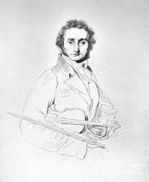 Violin Wall Art - Photograph - Nicolo Paganini (1782-1840) by Granger