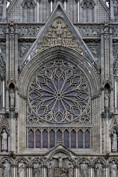 Photograph - Nidaros Cathedral Stone Ornaments by Aivar Mikko