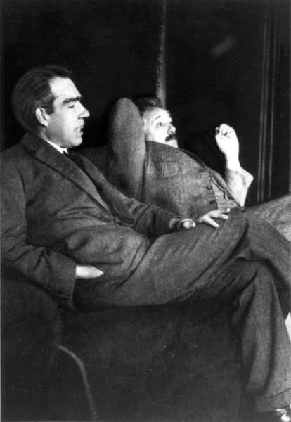 Niels Bohr And Albert Einstein Art Print
