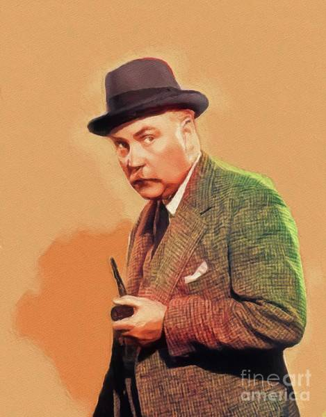 Wall Art - Painting - Nigel Bruce, Vintage Actor by John Springfield