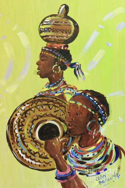 Nigeria Painting - Nigerian Dancers by John Bernards