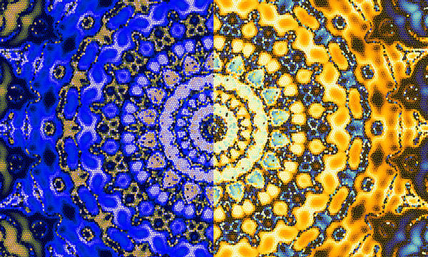 Digital Art - Night And Day Mosaic Mandala by Ruth Moratz