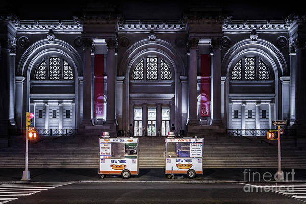 Uptown Manhattan Photograph - Night At A Museum by Evelina Kremsdorf