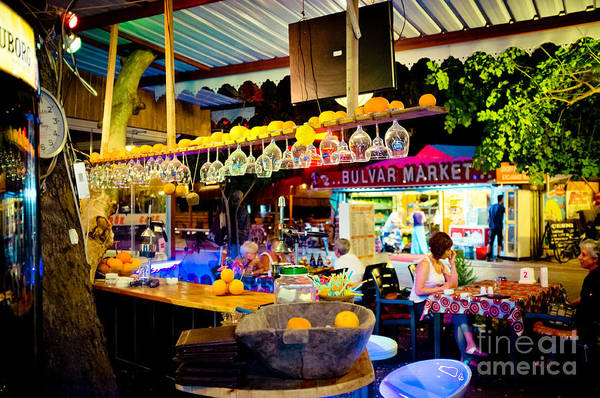 Photograph - Night At Bar by Raimond Klavins