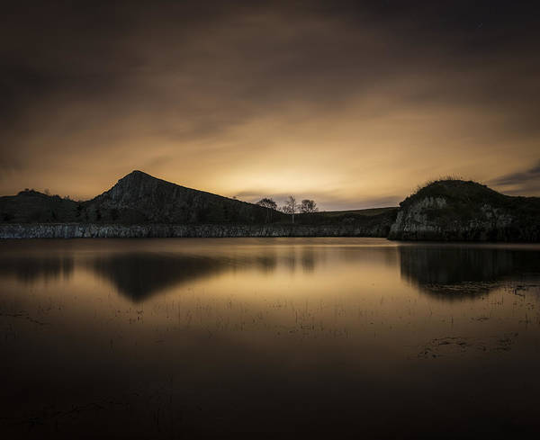Northumbria Photograph - Night At Cawfields by David Taylor