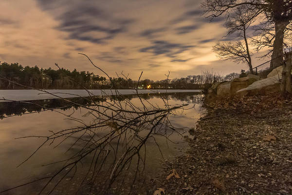 Photograph - Night At Houghtons Pond by Brian MacLean