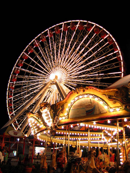 Photograph - Night At Navy Pier by Laura Kinker