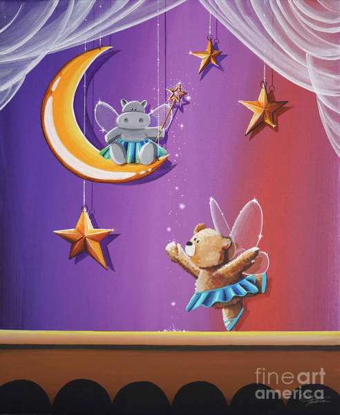 Wall Art - Painting - Night At The Ballet by Cindy Thornton