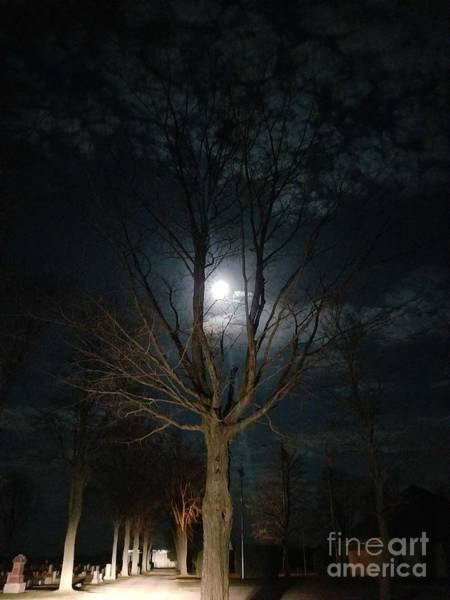 Photograph - Night At The Graveyard by Diamante Lavendar