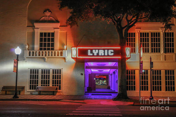 Photograph - Night At The Lyric Theater by Tom Claud