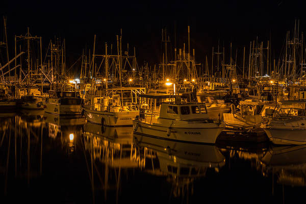 Photograph - Night At The Marina by Randy Hall