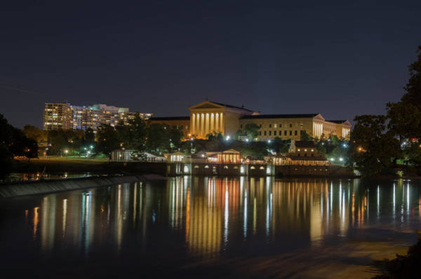 Photograph - Night At The Philadelphia Waterworks And Art Museum by Bill Cannon