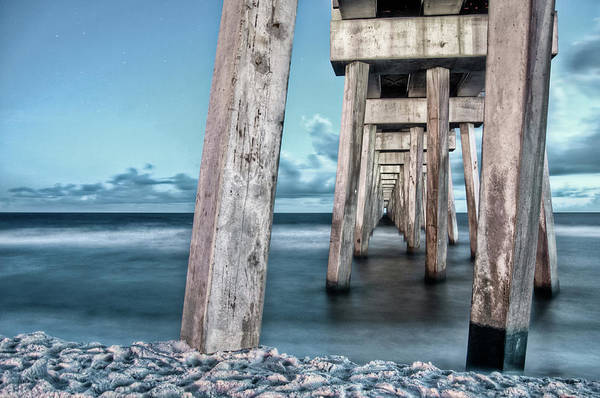 Photograph - Night At The Pier by Daryl Clark