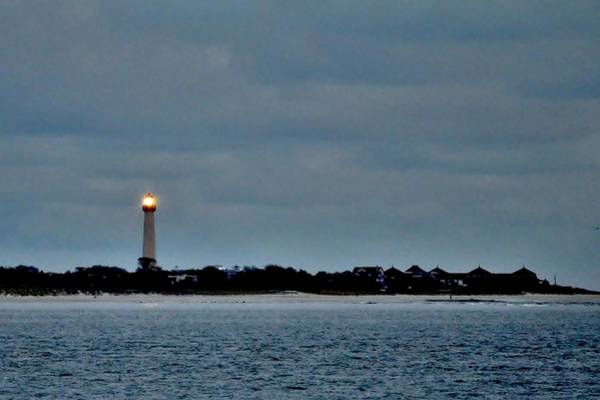 Photograph - Night Beacon - Cape May Lighthouse by Kim Bemis