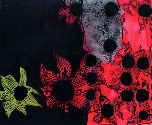 Stand Out Wall Art - Painting - Night Blossom by Keshida Layone