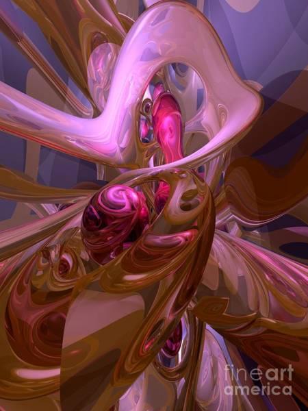 Wall Art - Digital Art - Night Blush Abstract by Alexander Butler