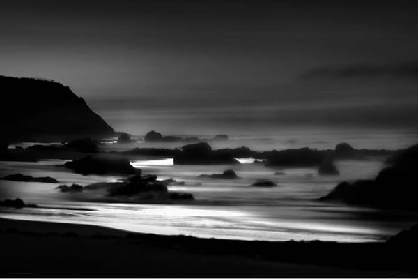 Photograph - Night Burns Bright Bw by Denise Dube