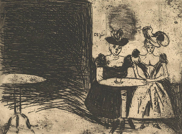 Relief - Night Cafe by Edvard Munch