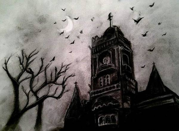 Drawing - Night by Carole Hutchison