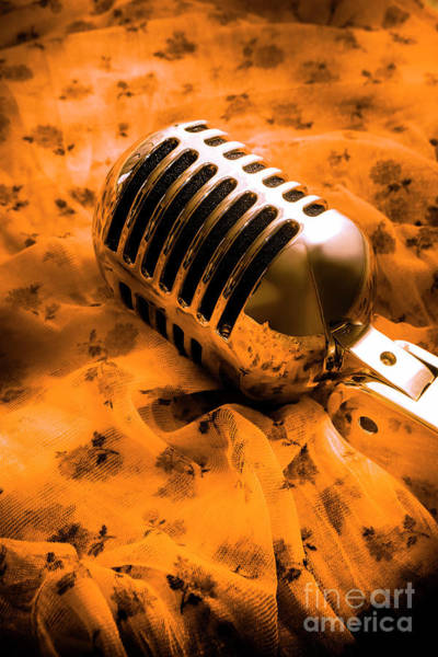 Microphone Photograph - Night Club District by Jorgo Photography - Wall Art Gallery