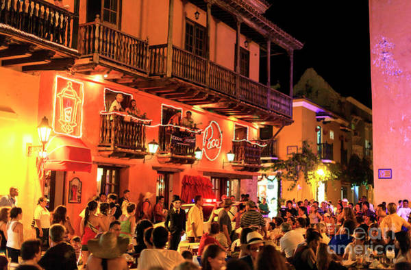 Photograph - Night Colors In Cartagena by John Rizzuto
