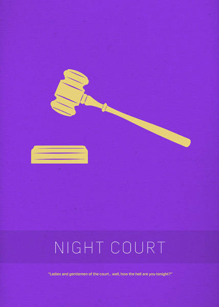 Night Mixed Media - Night Court My Favorite Tv Shows Series 019 by Design Turnpike