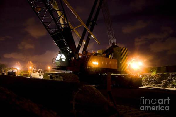 Photograph - Night Crane by Jorgo Photography - Wall Art Gallery