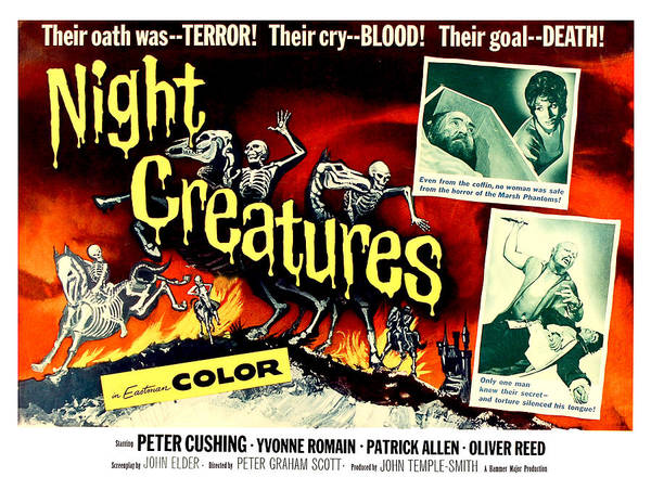 Horror Film Painting - Night Creatures, Horror Movie Poster by Long Shot