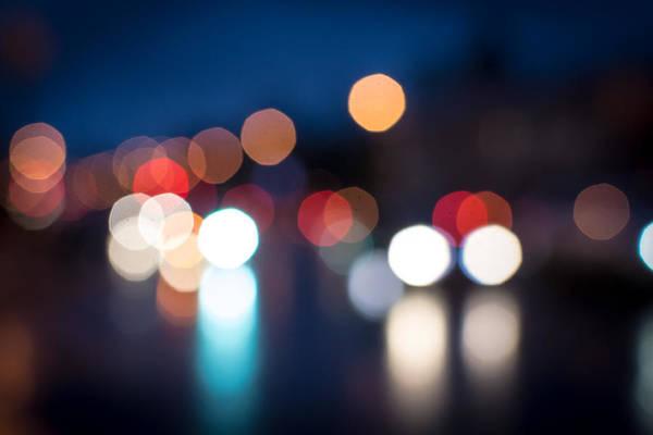Photograph - Night Defocused Street Traffic by John Williams