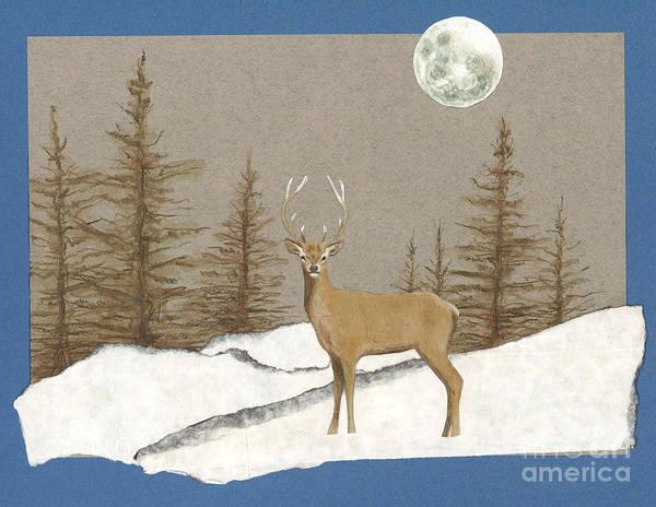 Winter Holidays Painting - Night Encounter by Ele Grafton