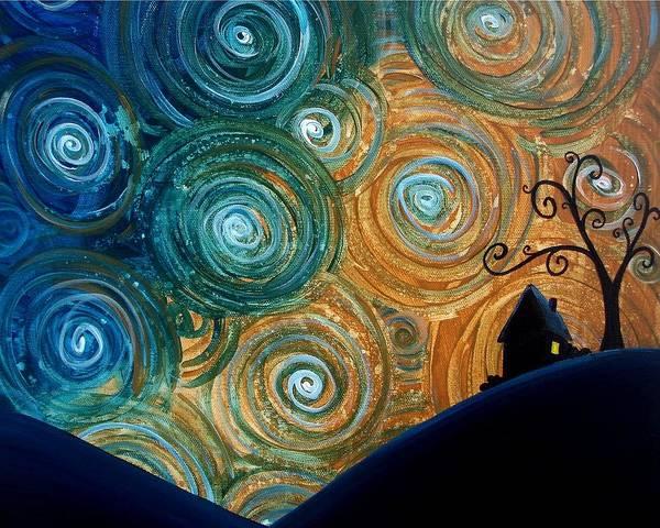 Wall Art - Painting - Night Falls by Cindy Thornton