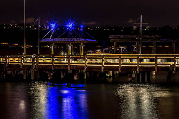 Photograph - Night Falls On Old Town Pier by Rob Green