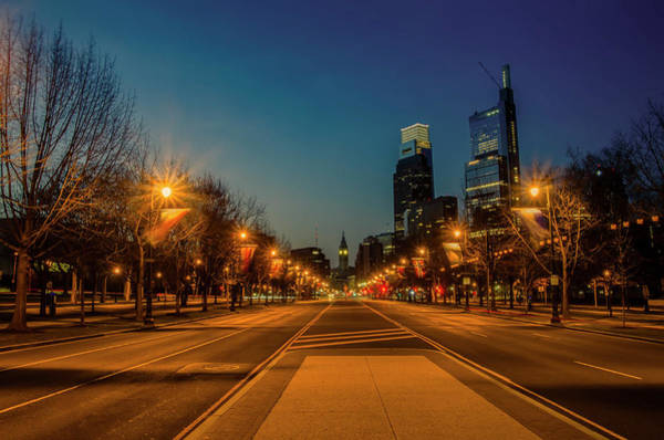 Wall Art - Photograph - Night Falls On The City - Philadelphia by Bill Cannon