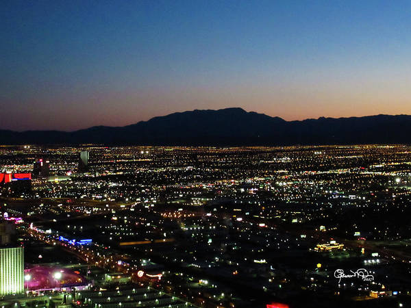 Photograph - Night Falls On Vegas by Susan Molnar