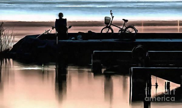 Painting - Night Fisherman by Odon Czintos