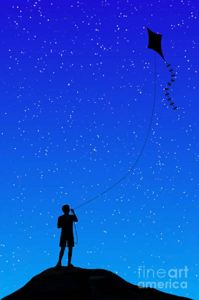Playful Digital Art - Night Flight by John Edwards