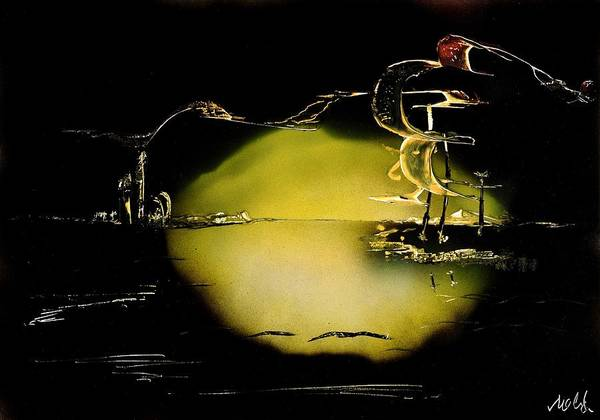 Wall Art - Painting - Night Flight by Nandor Molnar
