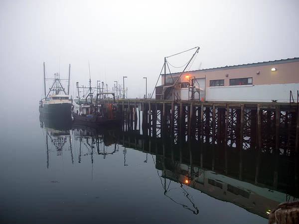Photograph - Night Fog Along The Dock by Bob Orsillo