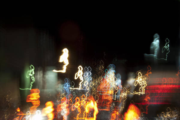 Photograph - Night Forest - Light Spirits Limited Edition 1 Of 1 by Ordi Calder